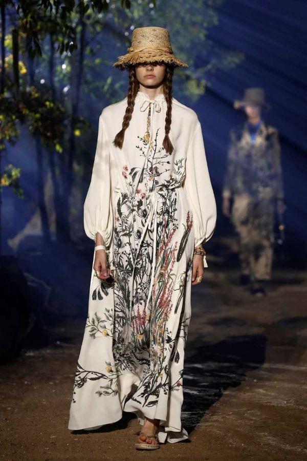 Vestido túnica de Dior AFP